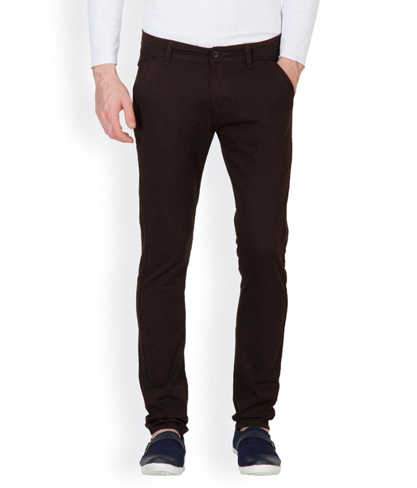 Designroadies Brown Slim Casuals