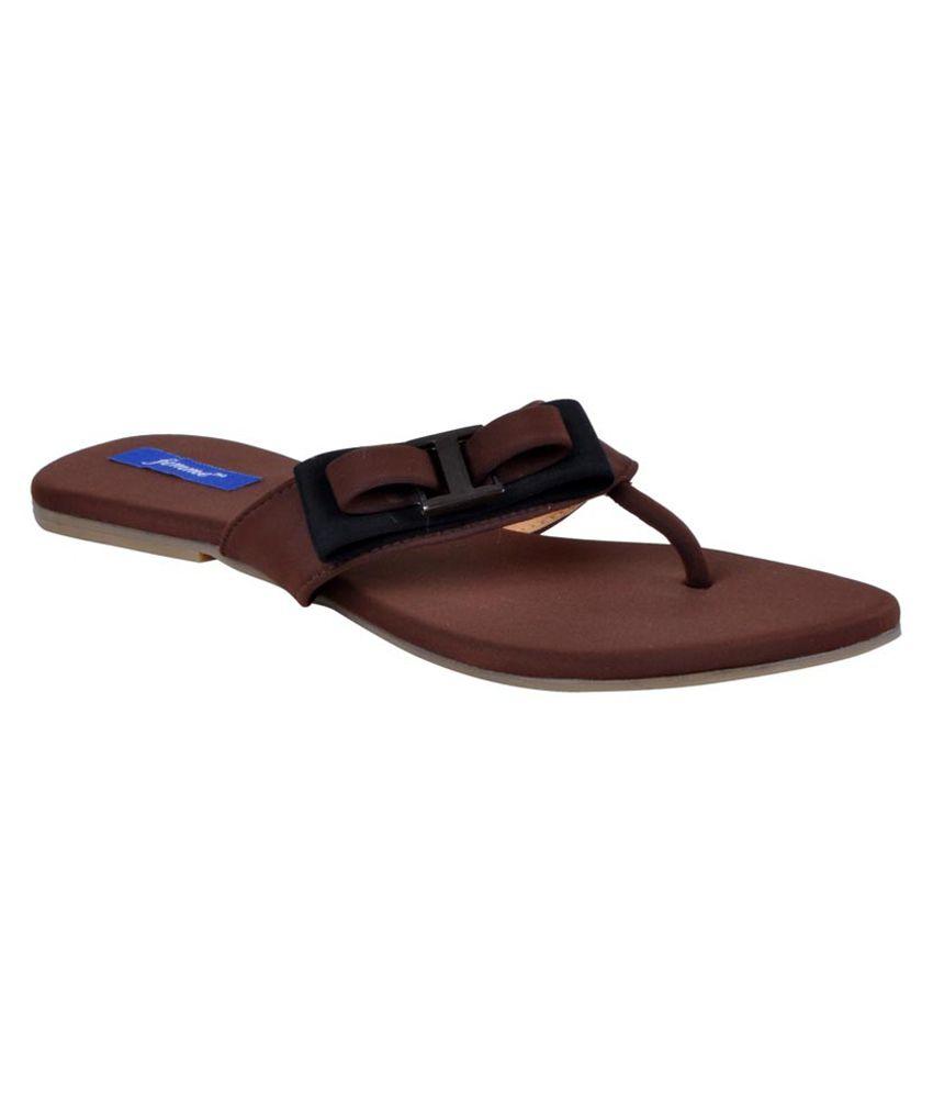 Femme Brown Back Open Cutout Sandal