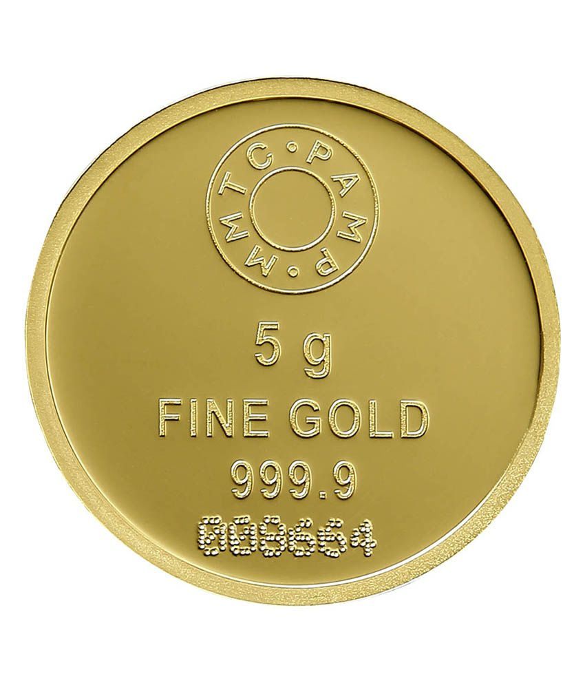 Gehnashop Mmtc Pamp Gold Coin Of 5g Purity 9999