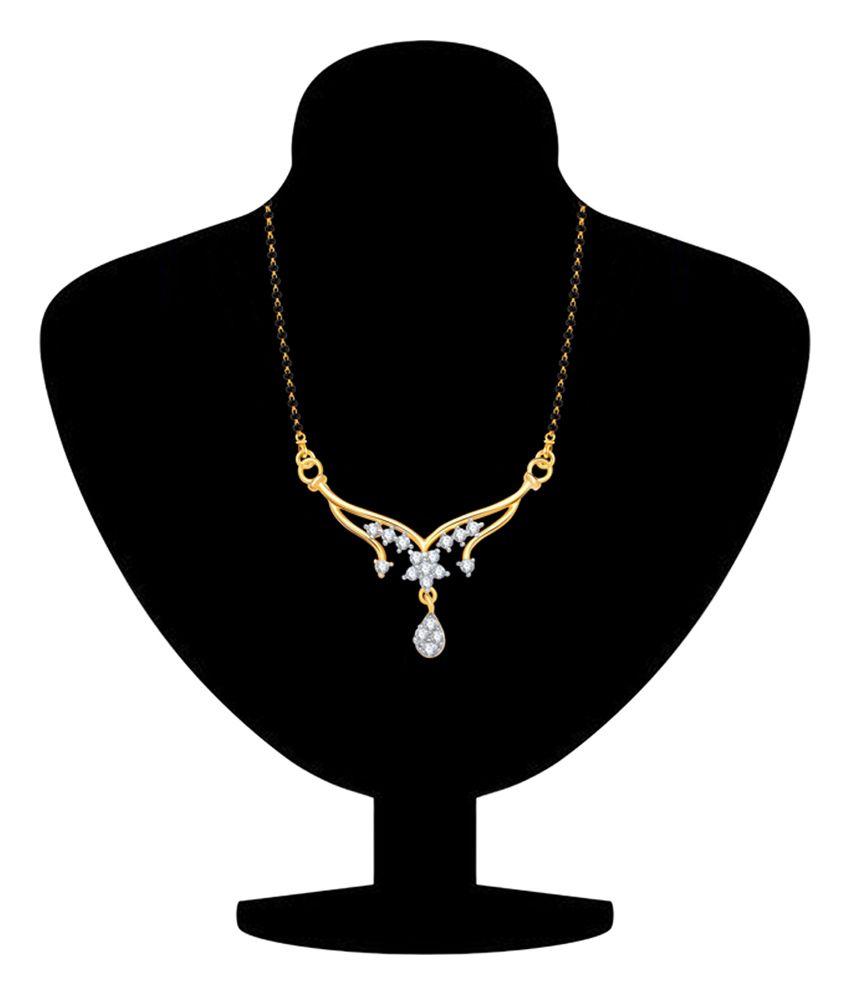Vk Jewels Just Like Diamonds Alloy Contemporary Mangalsutra