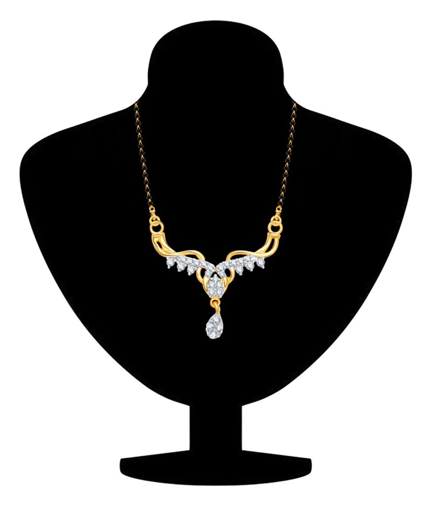 Vk Jewels Just Like Diamonds Alloy Contemporary Mangalsutra
