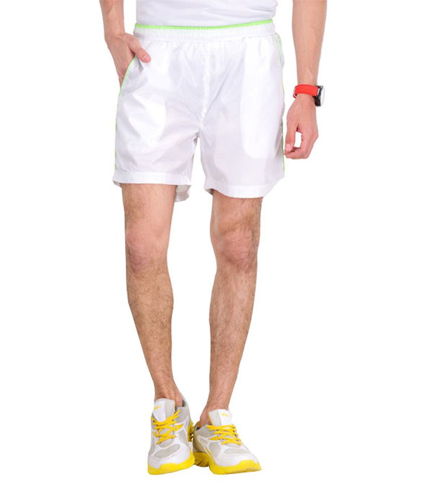 Wintex Green White Shorts Polyester Checks Shorts