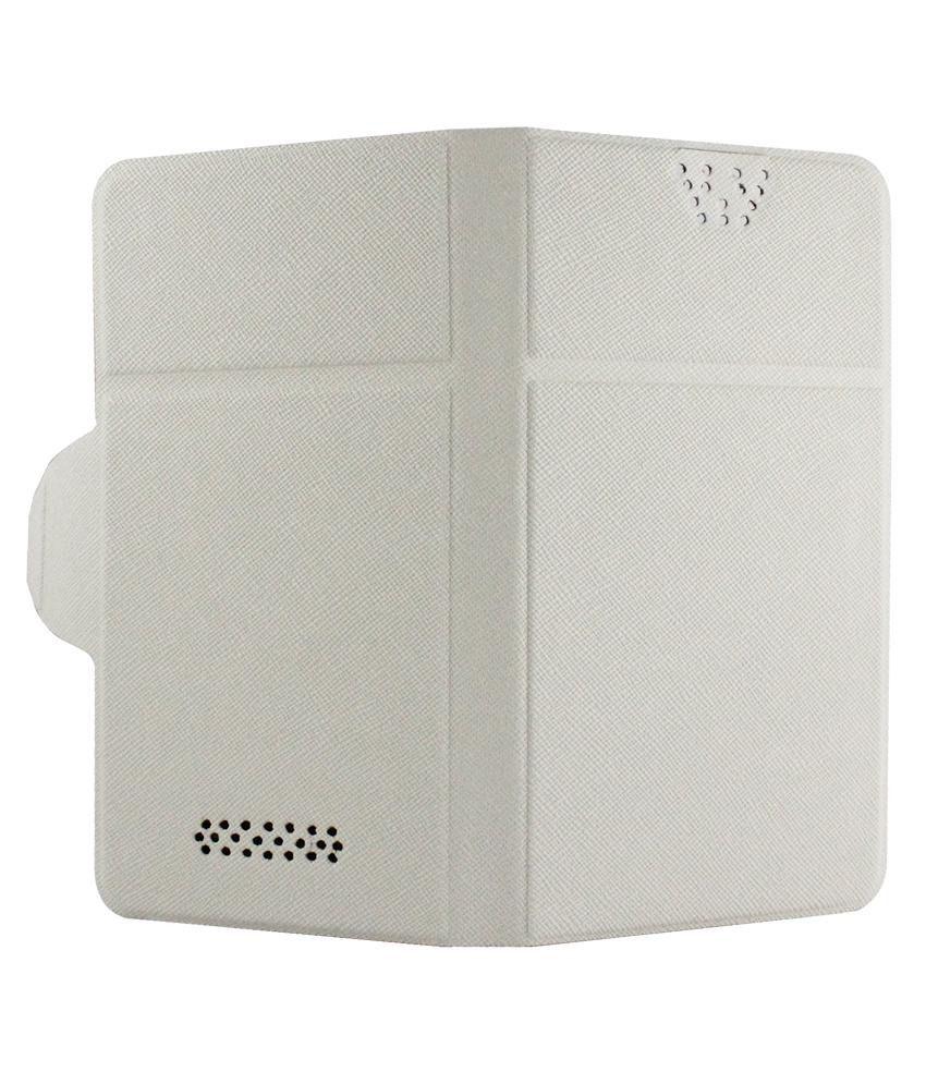 info for b17d5 04665 Molife Universal Flip Cover For Lava Iris X5 - White