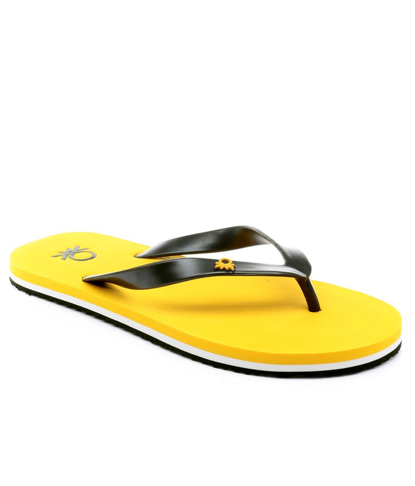 3fc4e8db90f0c United Colors Of Benetton Yellow Slippers Price in India- Buy United Colors  Of Benetton Yellow Slippers Online at Snapdeal