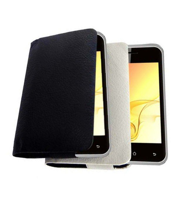 Acm Rich Leather Soft Carry Case For Intex Cloud X2 Mobile Handpouch Cover Protect   Black available at SnapDeal for Rs.389