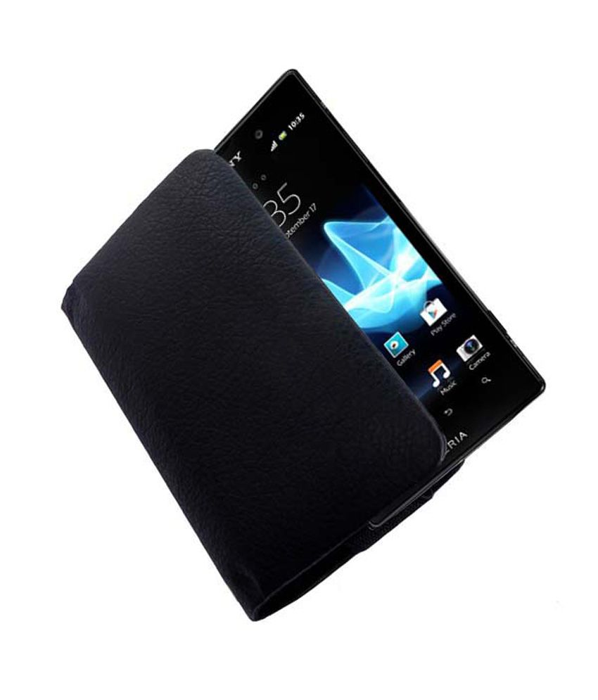 wholesale dealer 18d68 fb7d2 Acm Rich Leather Soft Carry Case For Sony Xperia Ion Lt28H Handpouch Cover  Pouch New - Black