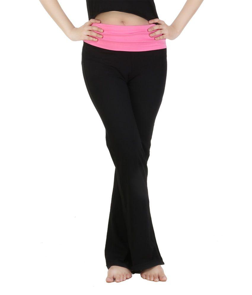 Nite Flite Pink Foldover Yoga Pants