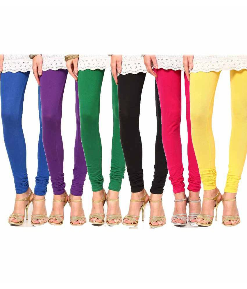 e32dc22f5b Fnme Set Of 6 Cotton Lycra Leggings Price in India - Buy Fnme Set Of 6  Cotton Lycra Leggings Online at Snapdeal