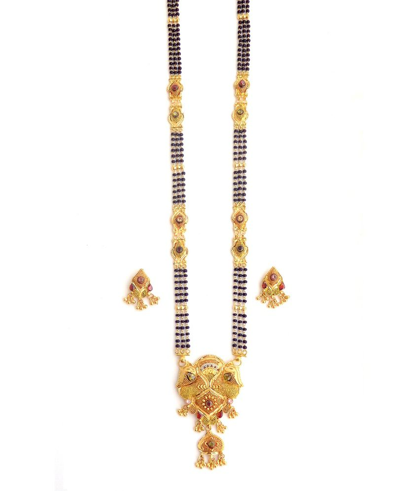 162263560e3 Nishugold Antique Design Gold Mangalsutra  Buy Nishugold Antique Design  Gold Mangalsutra Online in India on Snapdeal