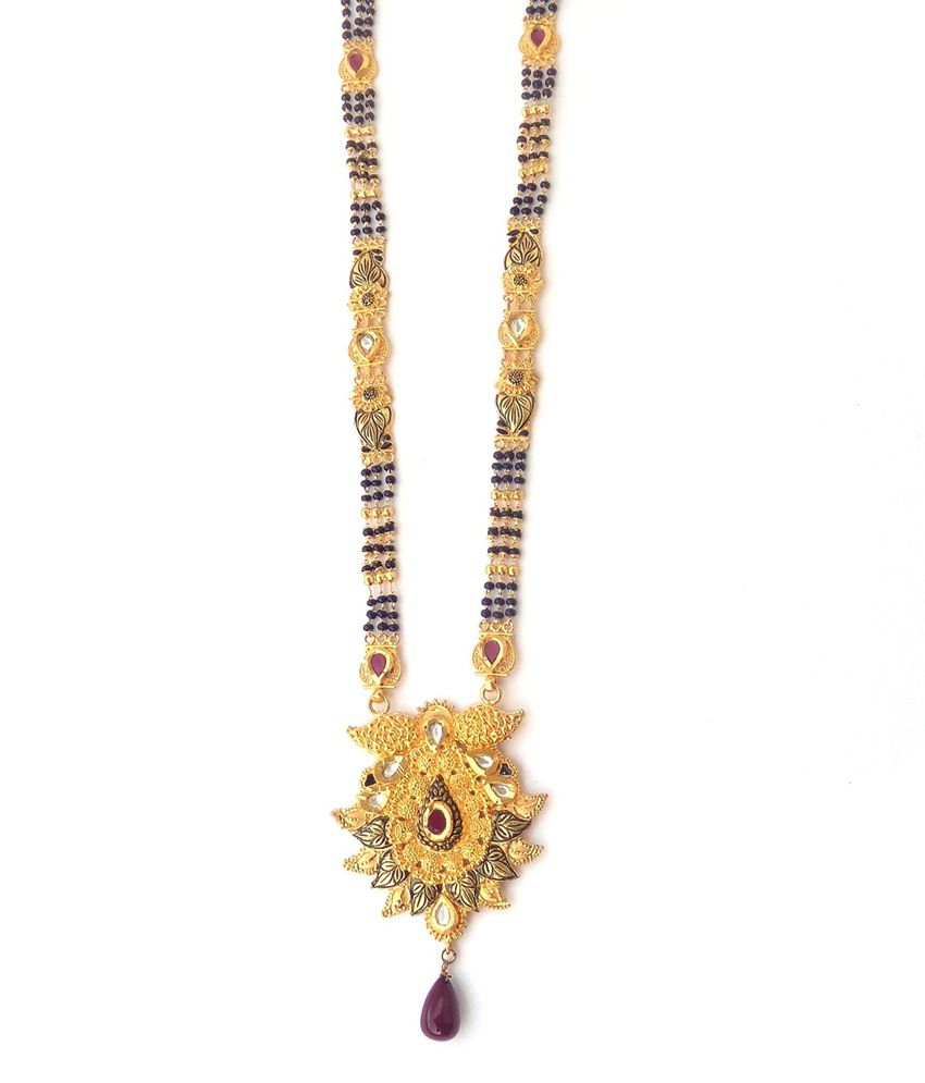 Nishugold Antique Design Gold Mangalsutra: Buy Nishugold Antique ...