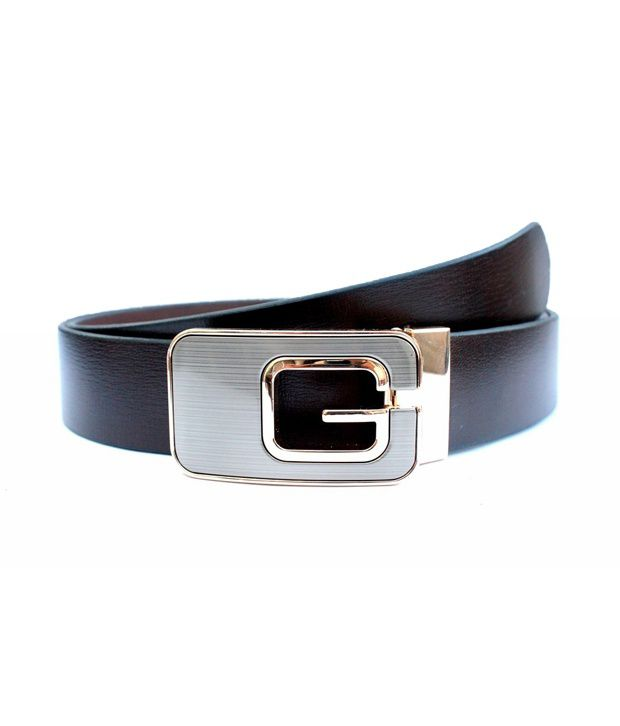 Tops Men Brown Leather Belt