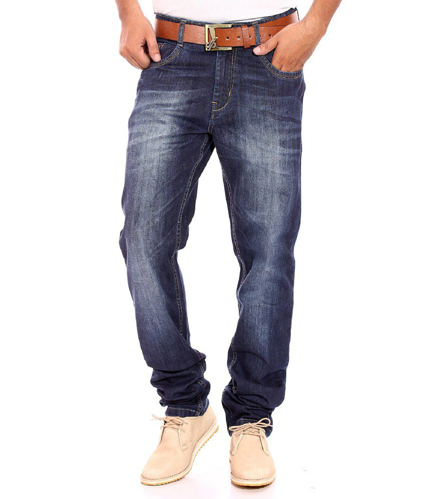 Sparky Blue Straight Fit Jeans