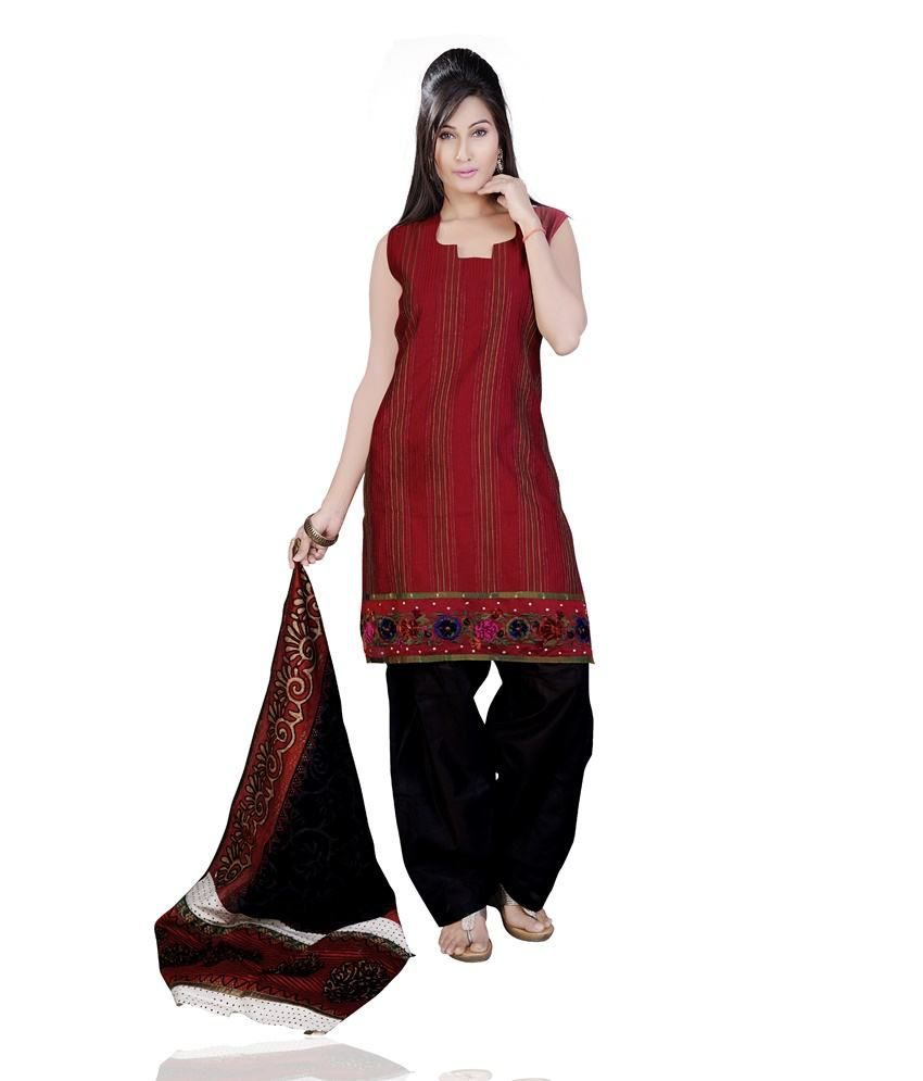 Mint Maroon Silk Embroidered Straight Fit Patiala