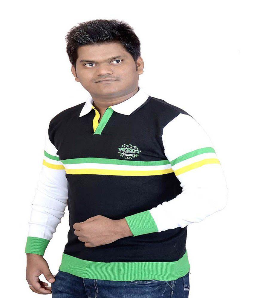 Star Shirt Multicolor Cotton Stripes T Shirt