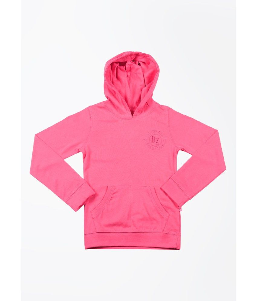 Dreamszone Full Sleeves Pink Color Solids Sweatshirts For Kids
