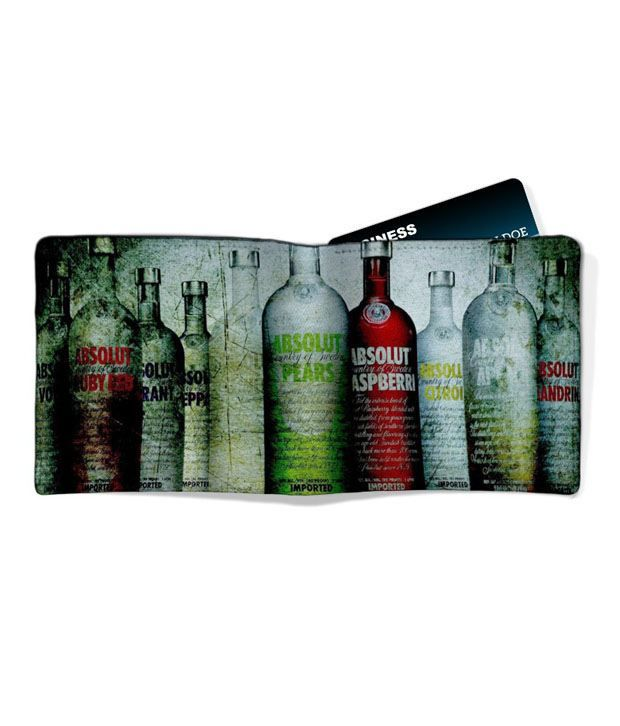 Imerch Absolut Vodka Men's Leather Wallet: Buy Online at Low