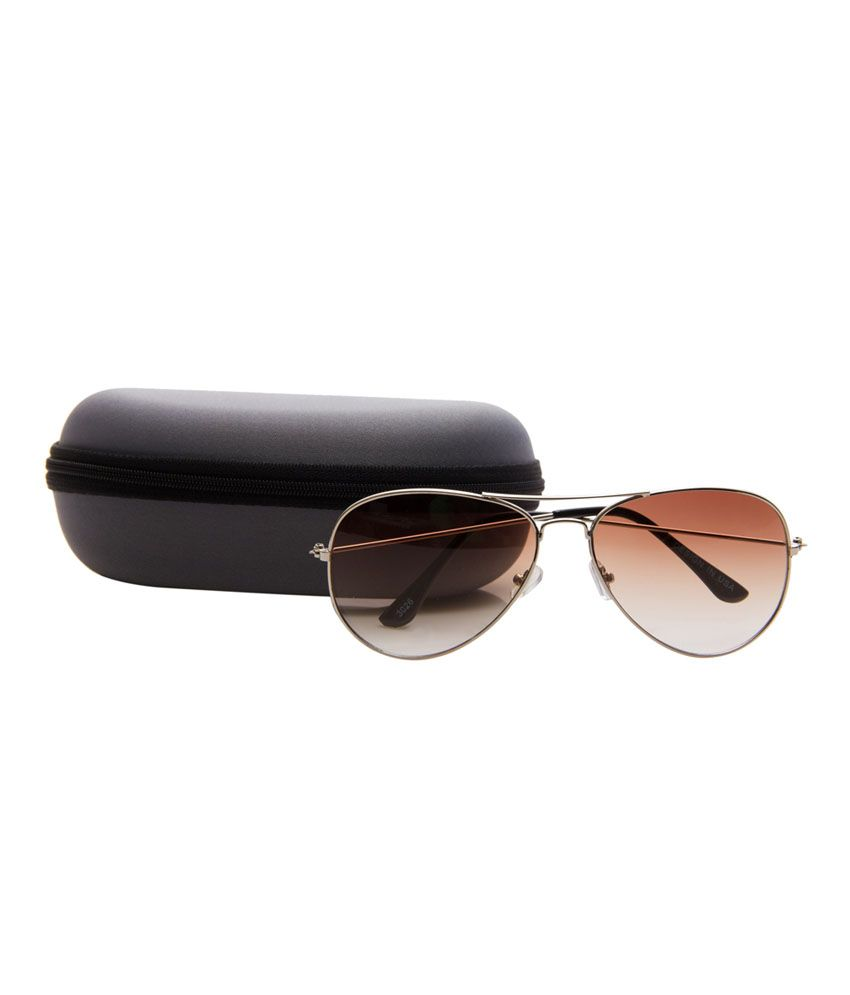 c0b0200622ff Monty Aviator Brown Designer Sunglass - Buy Monty Aviator Brown ...