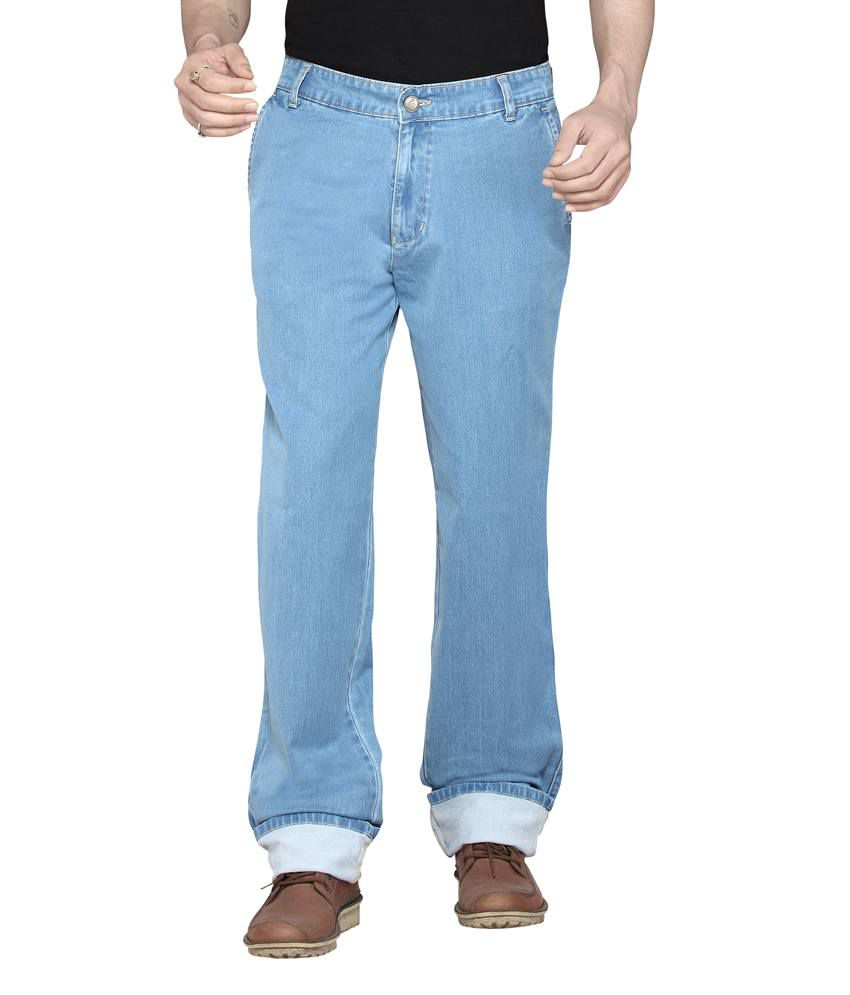 Dragaon Cross Pocket Ice Blue Relax Fit Jeans
