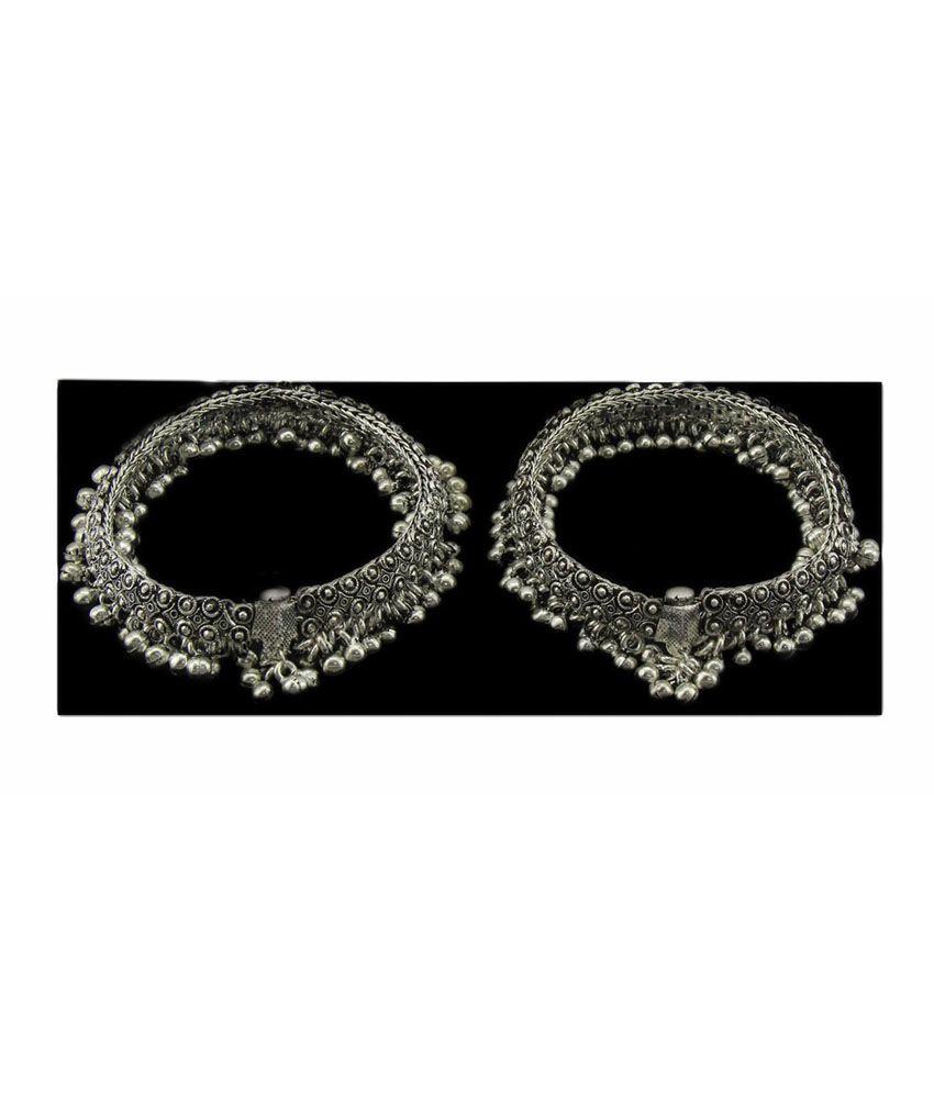 Jstarmart Bridal Silver Payal & Pajeb: Buy Jstarmart Bridal Silver ...