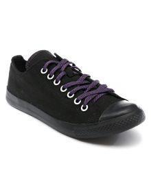 CONVERSE MONO DBL TNG - BLACK/PURPULE Canvas Shoes