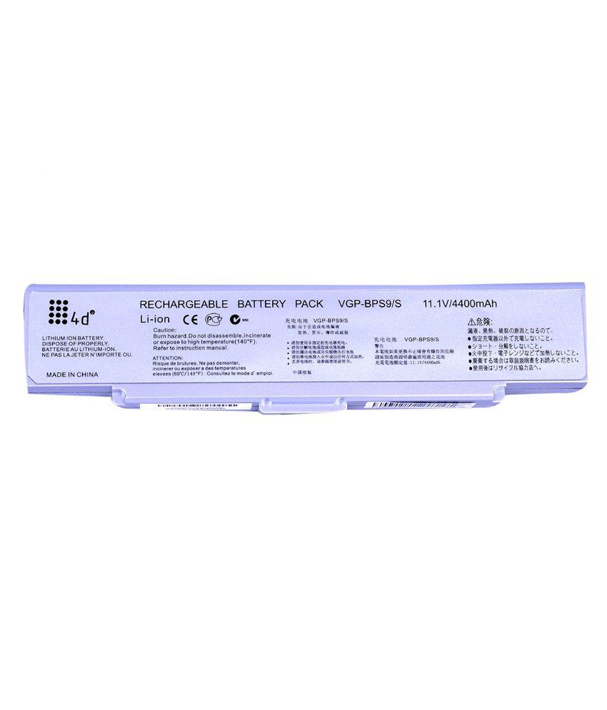 4D Sony Vaio VGN-CR19XN/B 6 Cell Laptop battery