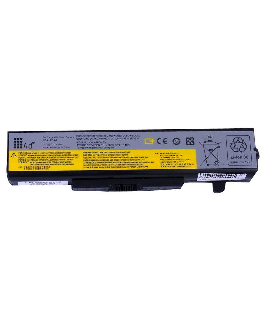 4d Lenovo Ideapad Z380 6 Cell Laptop Battery