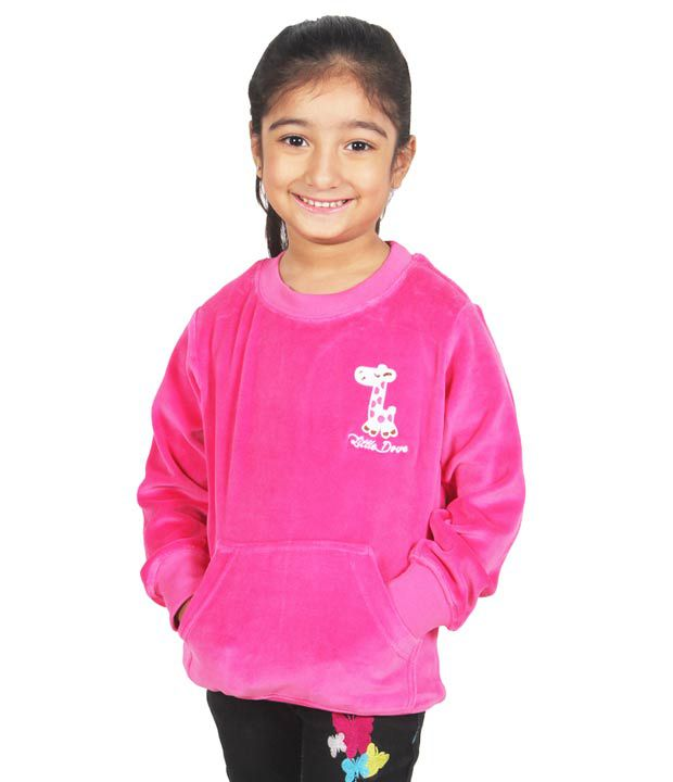 Little Dove Full Sleeves Pink Color Sweatshirt For Kids