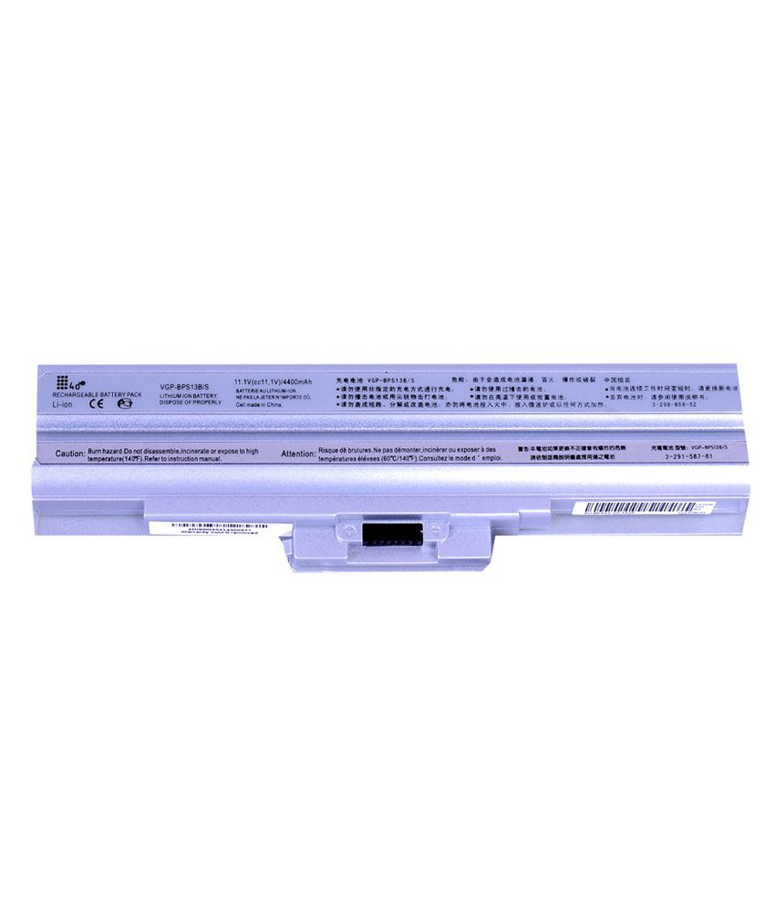 4d Sony Vaio Vgn-fw50b 6 Cell Laptop Battery