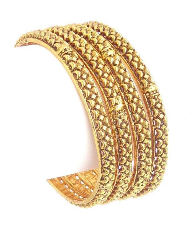 Antique Design Gold Plated ( 1 Gm ) Bangles