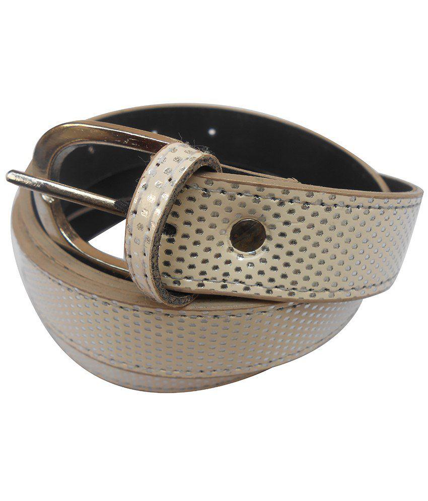 Gci Glossy Beige Belt For Women