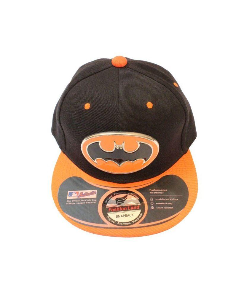 TakeInCart Batman 3D Snapback   Hiphop Caps (Black   Orange) - Buy Online    Rs.  d73f933e6813