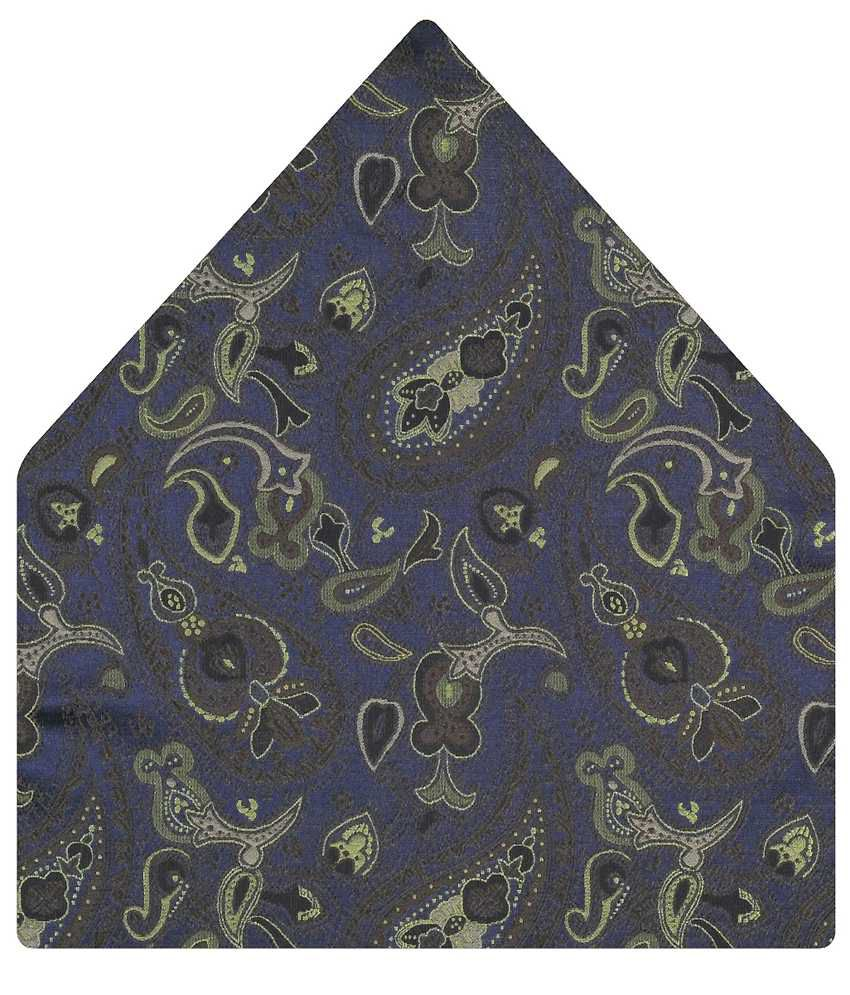 Tiekart Brilliant Blue Paisley Pocket Square