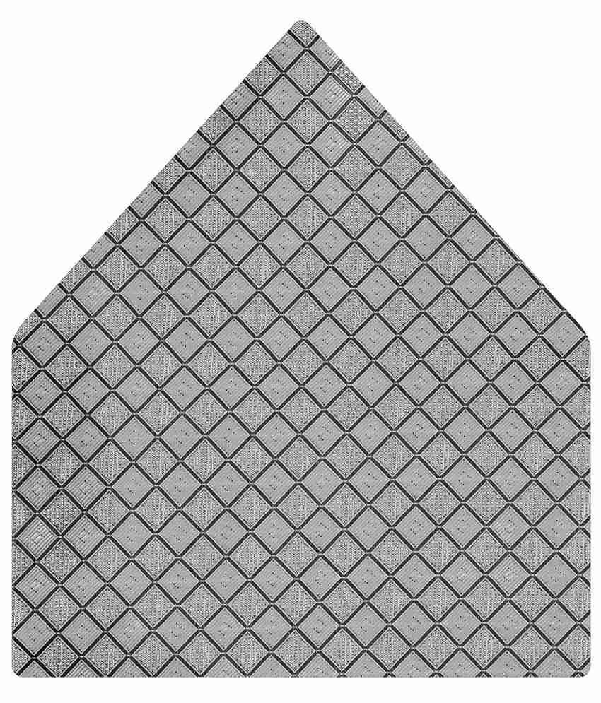 Tiekart Elegant Gray Geometrical Pocket Square