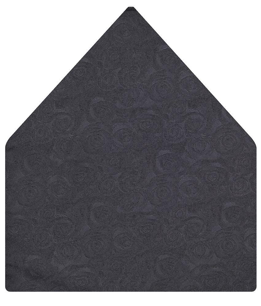 Tiekart Gray Floral Pocket Square
