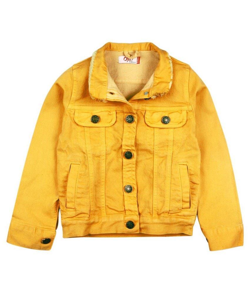 Oye Coloured Denim Jacket - Yellow