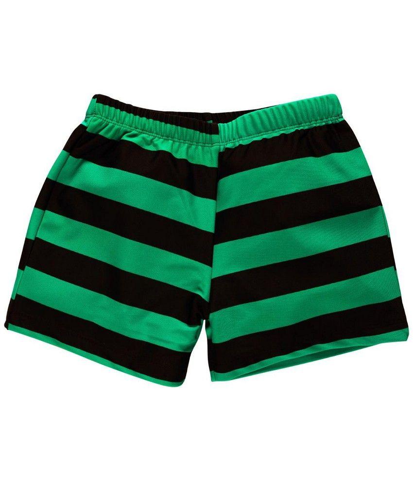 Oye Oye Swim Wear Trunk - Black & Green
