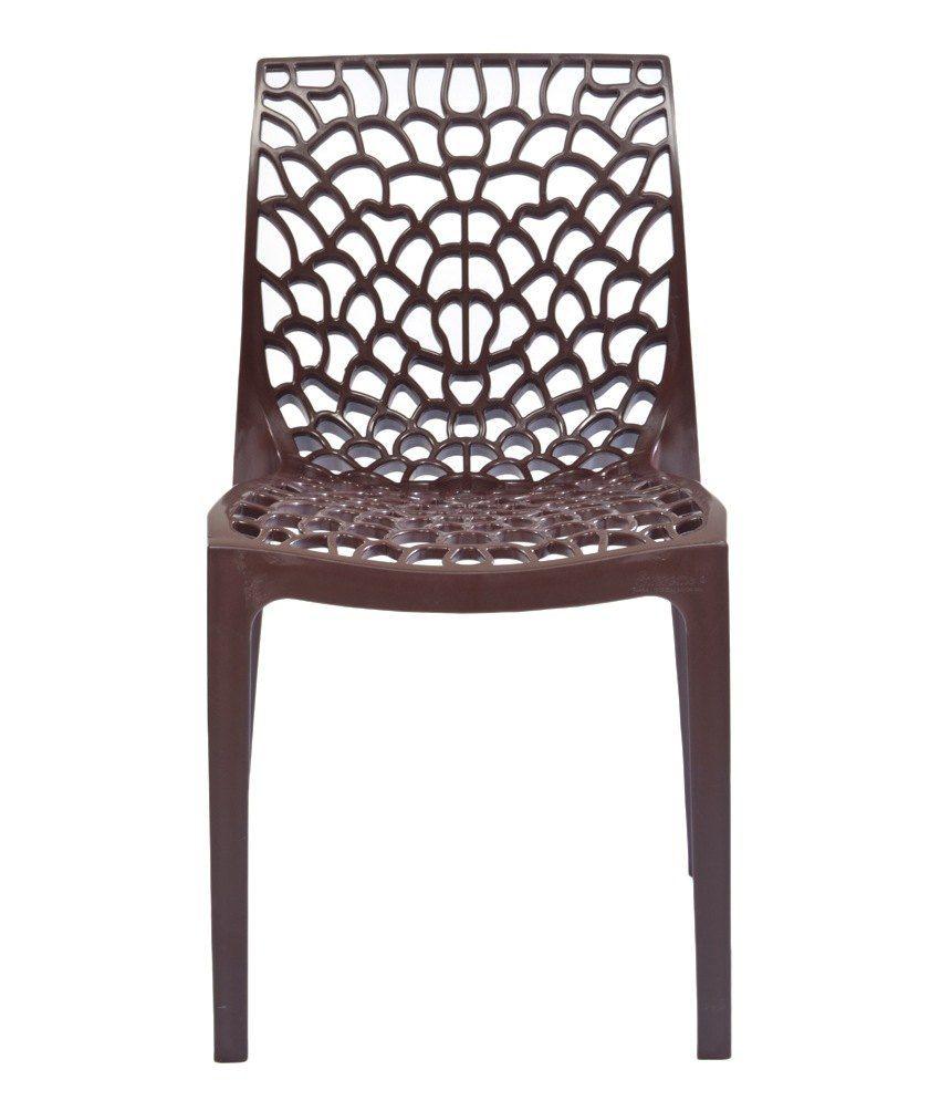 supreme web chair set of 4 globus brown buy supreme web chair rh snapdeal com