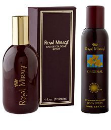Royal Mirage Original EDC 4 Fl Oz Men Perfume With Body Deodrant