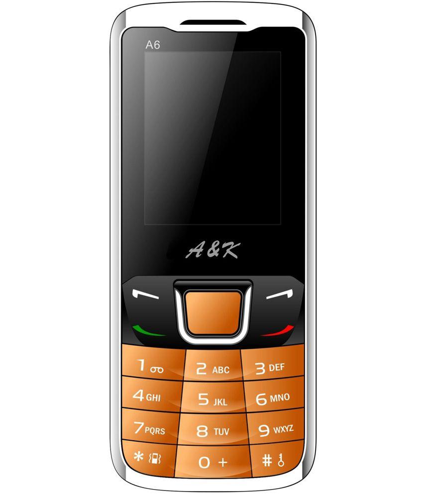 A&K A6 Orange GSM Mobile