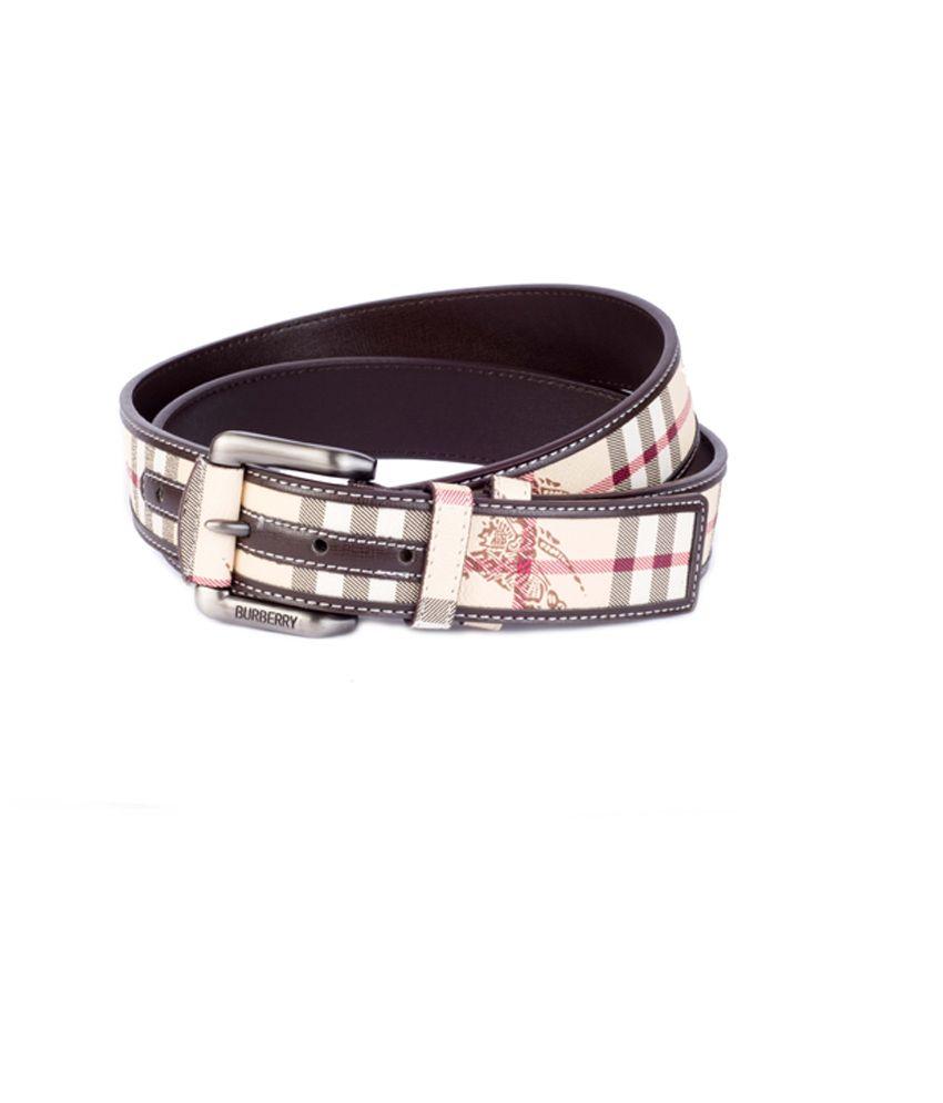 Burberry Multi Leather Pin Buckle Men's Belt