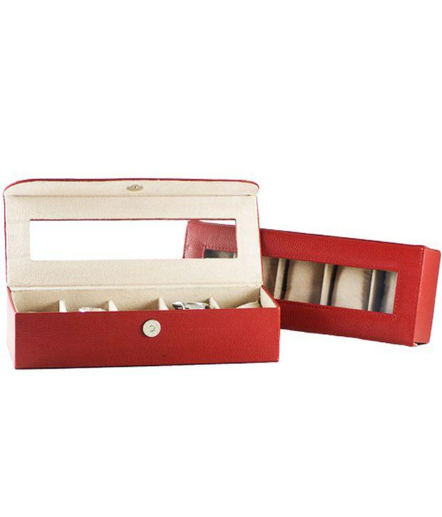 Gogappa Leather 5 Slots Watch Case Organizer Box