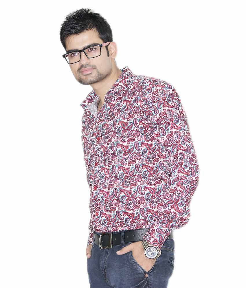 1bd87fc2c ... Kings Republic Men's Red Floral Print Shirt Kings Republic Men's Red  Floral Print Shirt. Hover to zoom