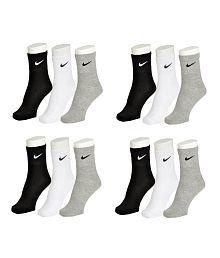 Nike Multi Colour Cotton Ankle Length 12 Pair Of Socks
