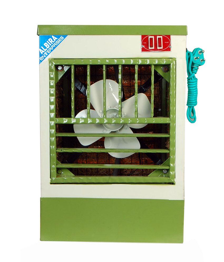 Albira 10 Mini Air Cooler Desert Cooler White with Green9 Inch