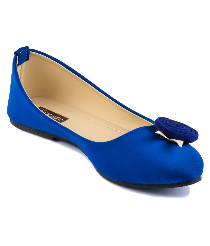 Charlie International Royal Blue Flower Pums