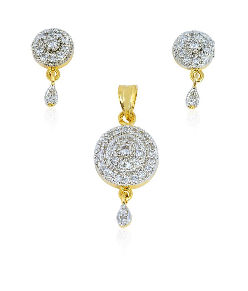 tiara gems circle of ad pendant earrings buy tiara