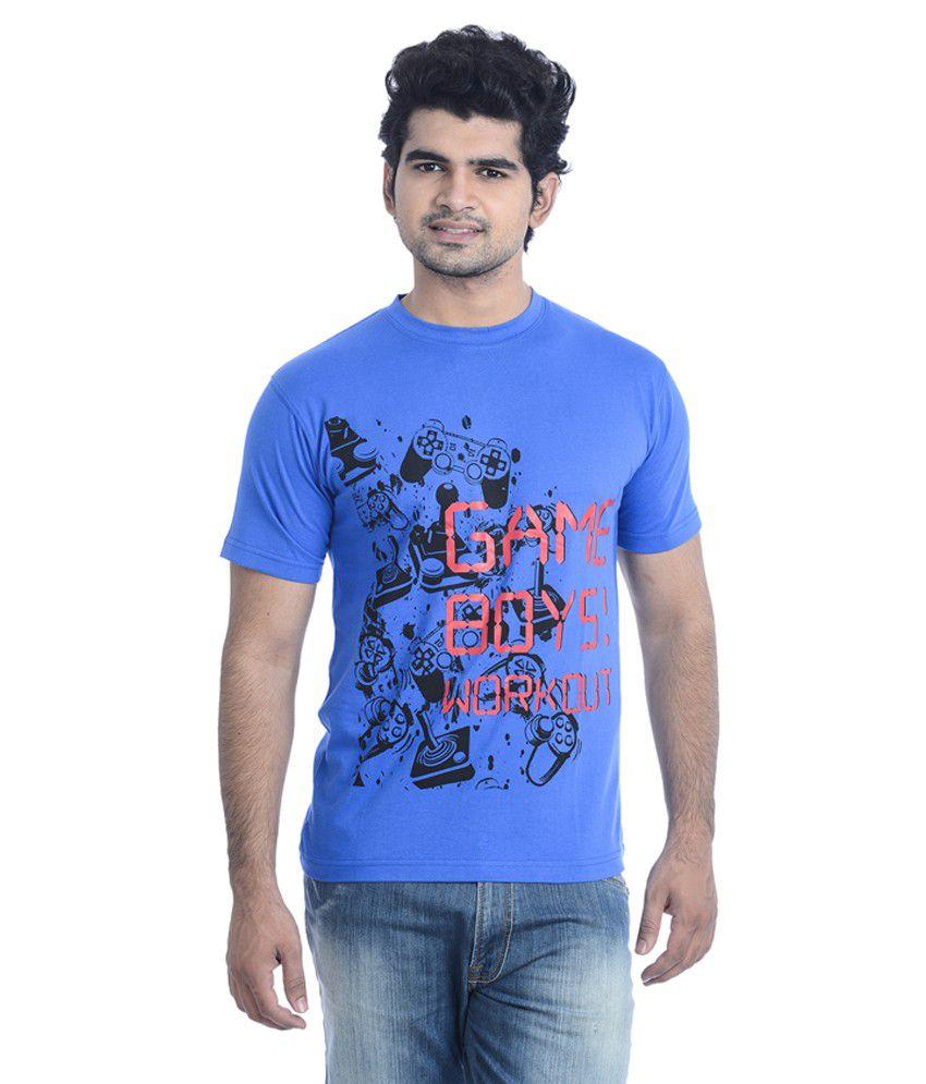Zezile Blue Printed Tshirt