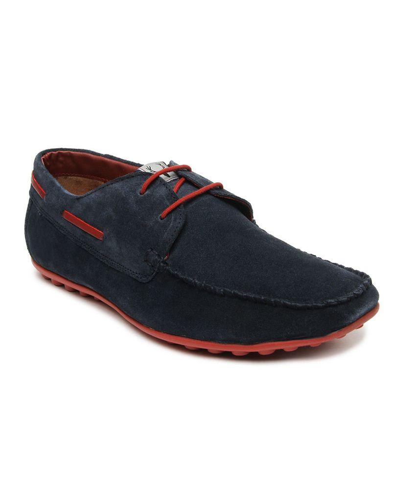 Allen Solly Men Navy Suede Upper Boat Shoes