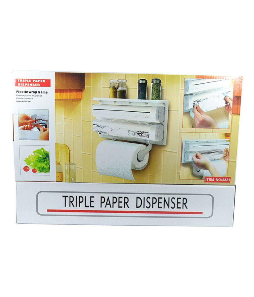 ... Roll And Retails Triple Paper Dispenser For Cling Film Wrap Aluminium  Foil U0026 Kitchen ...