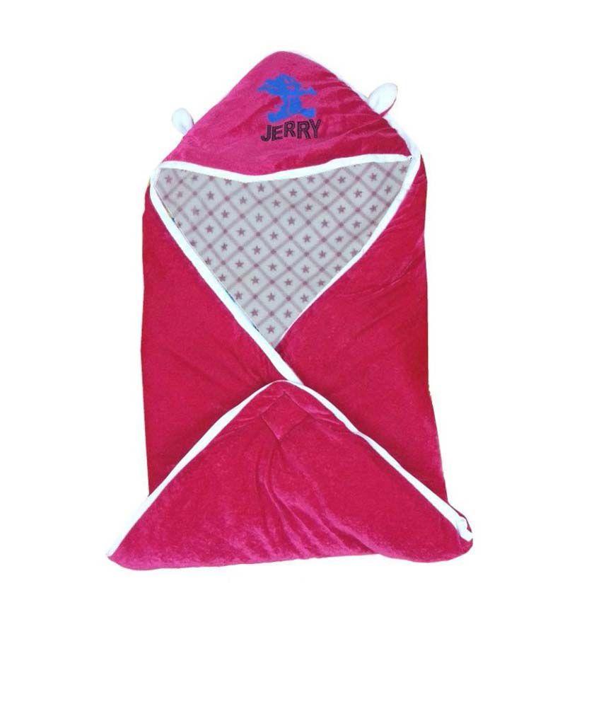Cute Baby Shiny Pink Checks Print Baby Wrap
